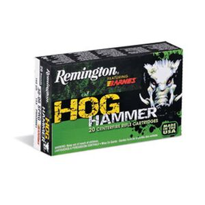 Remington Hog Hammer .223 Rem Ammunition 62 Grain Barnes TSX HP 3100 fps
