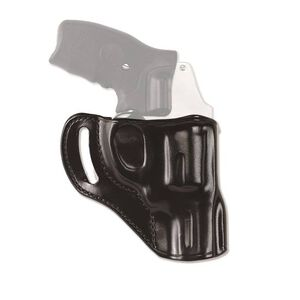 """Galco Hornet Outside The Waistband Belt Holster S&W J Frame, Taurus 85/85CH 2"""" Barrels Right Hand Draw Leather Black HT158B"""