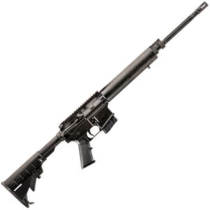 """Alexander Arms Lightweight AR-15 Semi Auto Rifle 6.5 Grendel 18"""" Fluted Barrel 10 Rounds G10 Composite Freefloat Handguard M4 Collapsible Stock Black"""