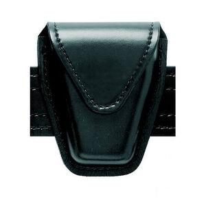 Safariland Model 190 Handcuff Pouch Chain Cuffs Top Flap Hidden Snap Safarilaminate Plain Black 190-41HS
