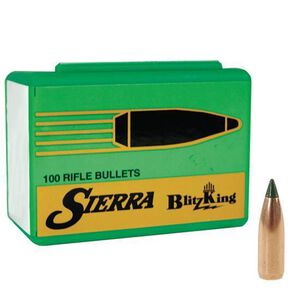 "Sierra .20 Caliber .204"" Diameter 32 Grain BlitzKing Polymer Tip Boat Tail Bullets 100 Count 1032"