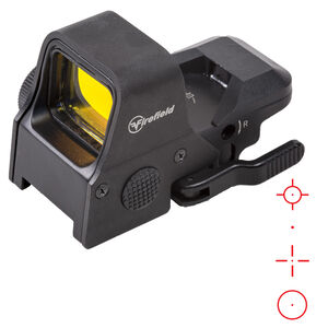 Firefield Impact XLT Red Dot Reflex Sight Multi-Reticle 1 MOA Adjustment CR2032 Battery QR Mount Unlimited Eye Relief Aluminum/Polymer Body Matte Black Finish