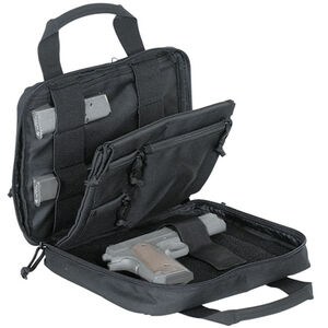 "Voodoo Tactical Custom Series Pistol Case 10""x12""x2"" 900D Poly Fabric Black with Gray"