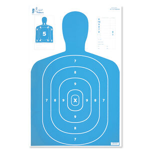 "Pro-Shot 23"" x 35"" B27 Silhouette Target Blue 5 Pack"