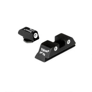 Trijicon Bright & Tough Night Sights For GLOCK Three Dot Green Font and Rear Sights Matte Black Finish GL04