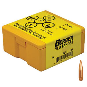 Berger Bullets 6mm Cal 105gr VLD HPBT Target Rifle Projectiles Precision Match Grade 100 Count