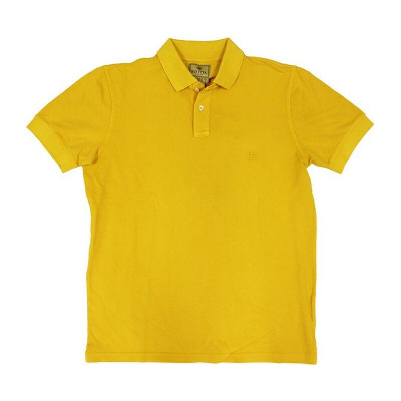 Beretta Men's Piquet Patch Polo Short Sleeve Size Medium Poly Mesh/Cotton Twill Mango Yellow