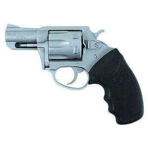 "Charter Arms Police Undercover Revolver .38 Special +P 2.2"" Barrel Rubber Grips Stainless Steel Finish"