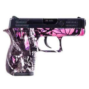 "Diamondback DB380 .380 ACP Semi Automatic Pistol 6 Rounds 2.80"" Barrel Two Tone Muddy Girl Polymer Frame Black Finish"
