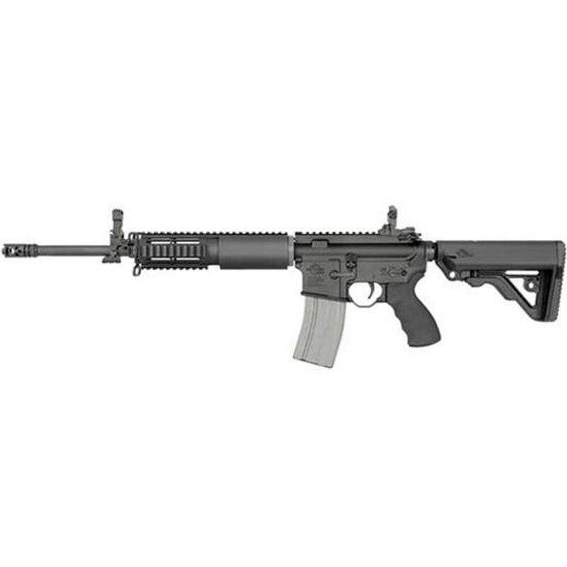 "Rock River Arms LAR 15 Elite Comp Semi Auto Rifle .223 Rem/5.56 NATO 16"" Chrome Lined Barrel 30 Rounds RRA Half Quad Rail Collapsible Stock Black Finish AR1270"