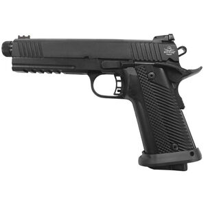 """Rock Island Armory Tac Series Ultra Threaded Full Size 1911 10mm Auto Semi Auto Pistol 5.5"""" Threaded Barrel 16 Rounds Fiber Front/Adjustable Rear Sights G10 Grips Parkerized"""