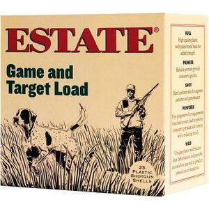"""Estate Cartridge Game and Target Load 12 Gauge Ammunition 2-3/4"""" Shell #6 Lead Shot 1oz 1290fps"""