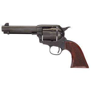 "Taylors and Company Runnin' Iron Revolver Single Action 45 Long Colt 4 3/4"" Barrel 6 Rounds Black Rock Checkered Walnut Grip"