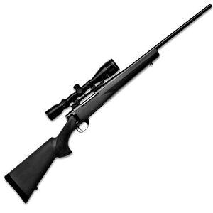 "Howa Hogue GameKing Scope Package Bolt Action Rifle .308 Win 22"" Barrel 5 Rounds Black Hogue Overmold Stock Blued Finish with Nikko Stirling GameKing 3.5-10x44 Rifle Scope"