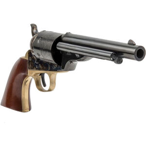"""Cimarron Firearms 1872 Open Top Navy .38 Special Single Action Revolver 6 Rounds 5.5"""" Barrel Walnut Grips Case Hardened/Blued Finish"""