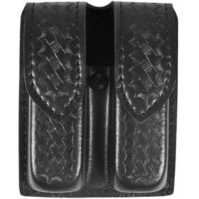 Safariland Model 77 Double Handgun Magazine Pouch SIG Sauer P250DC Basket Weave Finish Hidden Snap Closure Black 77-283-4HS