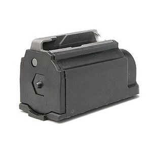 Ruger 77/44 Magazine .44 Magnum 4 Rounds Plastic with Steel Feed Lips Black Finish MAG7744