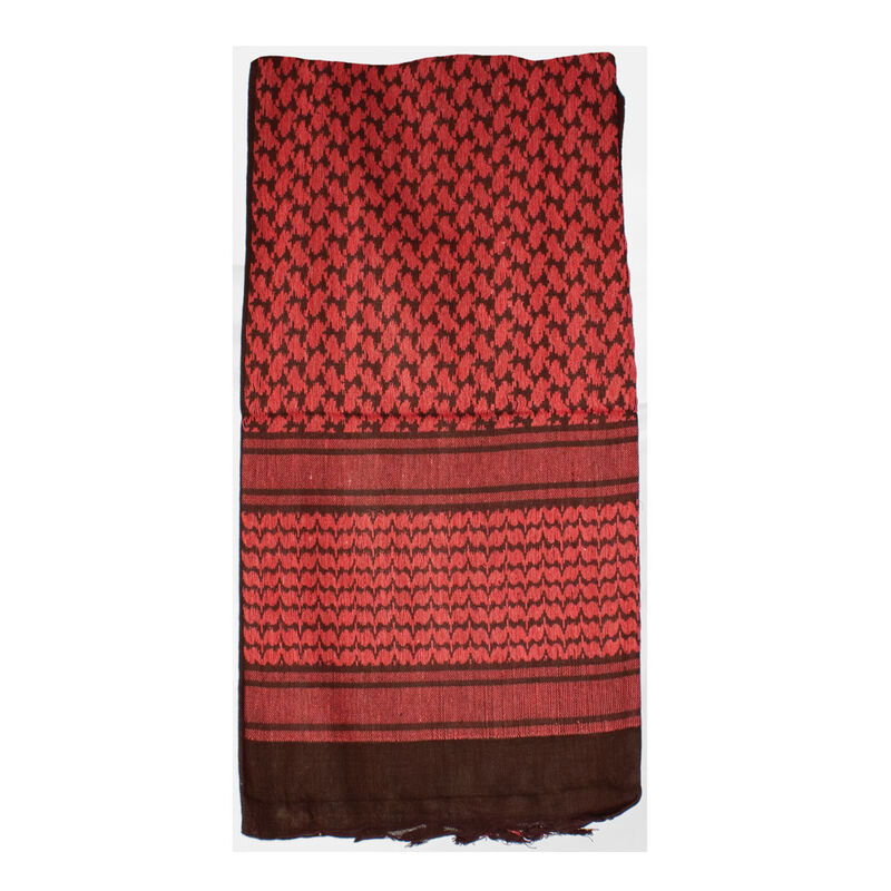 """Red Rock Outdoor Gear Tactical Shemagh 42""""x42"""" 100% Cotton Red and Black"""