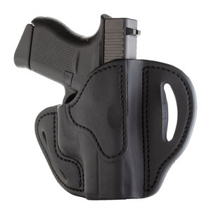 1791 Gunleather Open Top Multi-Fit OWB Belt Holster for Sub Compact Semi Auto Models Right Hand Draw Leather Black