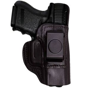 TAGUA Gun Leather Ruger LCR IWB Holster Right Hand Leather Black IPH-020