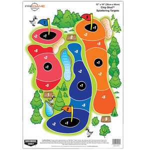 Birchwood Casey Dirty Bird Style 12x18 Pregame Chip Shot Reactive Paper Target Indoor/Outdoor 100 Pack