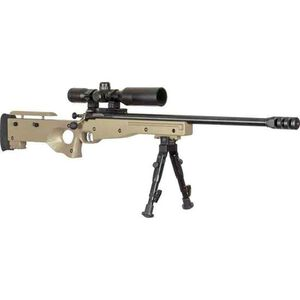 """Keystone Crickett CPR Package .22 LR Single Shot Bolt Action Rimfire Rifle 16.125"""" Threaded Barrel with Bipod and Scope FDE Adjustable Synthetic Thumbhole Stock Blued Barrel"""