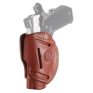 """1791 Gunleather 3WH 3 Way Multi-Fit OWB Concealment Holster for 3""""/4"""" 1911 Models Ambidextrous Draw Leather Classic Brown"""