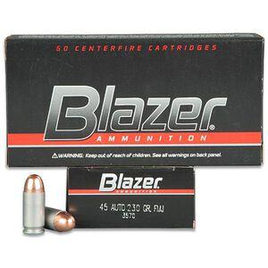 CCI Blazer .45 ACP Ammunition 50 Rounds FMJ 230 Grains 3570