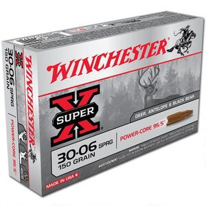 Winchester Power Core .30-06 Springfield Ammunition 20 Rounds Lead Free HP 150 Grains X3006LF