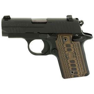 "SIG Sauer P238 Select Semi Auto Pistol .380ACP 2.7"" Barrel 7 Rounds SIGLite Sights Custom G10 Grips Stainless Steel Slide/Alloy Frame Nitron Black Finish"