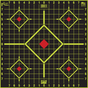 "Pro-Shot Long Range 17.5"" Square Sight In Target Splatter Shot 5 Pack"
