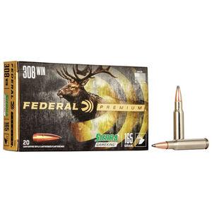 Federal Premium Sierra GameKing .308 Winchester Ammunition 20 Rounds 165 Grain Sierra GameKing Boat Tail Soft Point 2700fps