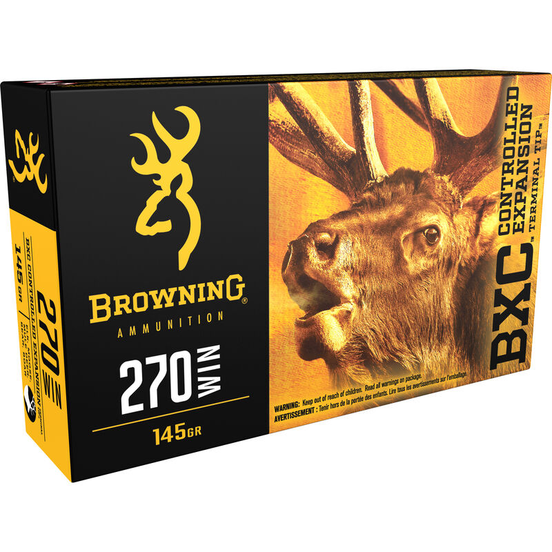 Browning BXC .270 Winchester Ammunition 200 Rounds BXC 145 Grains B192202701