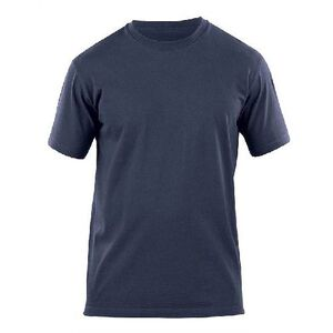 5.11 Tactical Professional Short Sleeve T Shirt Cotton Knit Large Fire Navy 71309