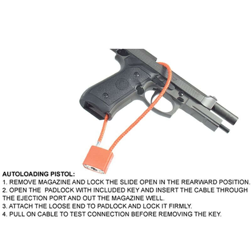 "UTG Firearm Cable Lock F5.3mmX15"", California DOJ Approved"