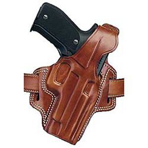 F.L.E.T.C.H. High-Ride Belt Holster Glock 19, 23 and 32,  FN FNS 9/40  Right Hand Leather Tan