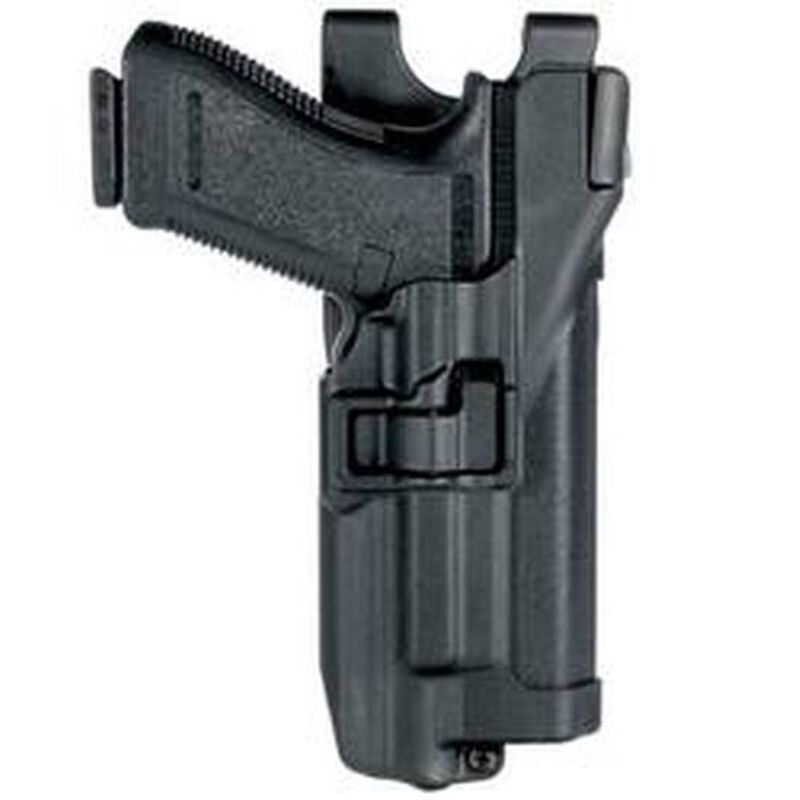 BLACKHAWK! SERPA Level 3 Duty Belt Holster S&W M&P 9/40 With Xiphos Light Right Hand Polymer Black 44H525BK-R