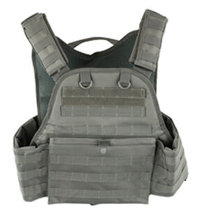 NcSTAR Plate Carrier Vest Size Med to 2XL Nylon Gray