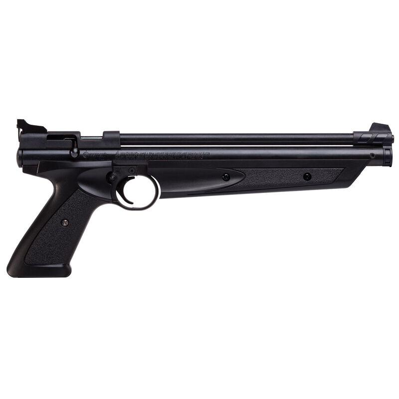 Crossman American Classic Pistol .177 Caliber Pellet Variable Pump Bolt Action Airgun 600 fps Polymer Housing Steel Barrel Adjustable Notch Sight Matte Black P1377