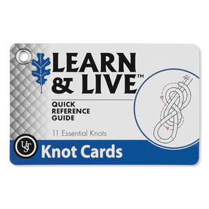 Ultimate Survival Technologies Learn & Live Knot Tying Card Set 20-80-1030