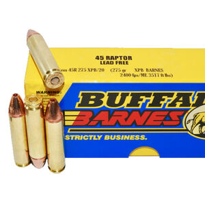 Buffalo Bore .45 Raptor Ammunition 20 Rounds XPB 275 Grains