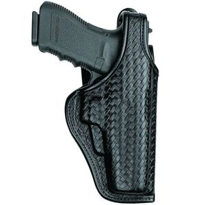 Bianchi AccuMold Elite Defender II Duty Holster with Jacket Slot Belt Loop Basket Weave Black 22036