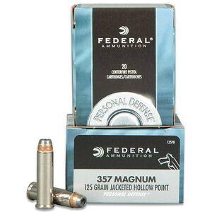 Federal .357 MAG 125 Grain JHP 20 Round Box 1440 fps