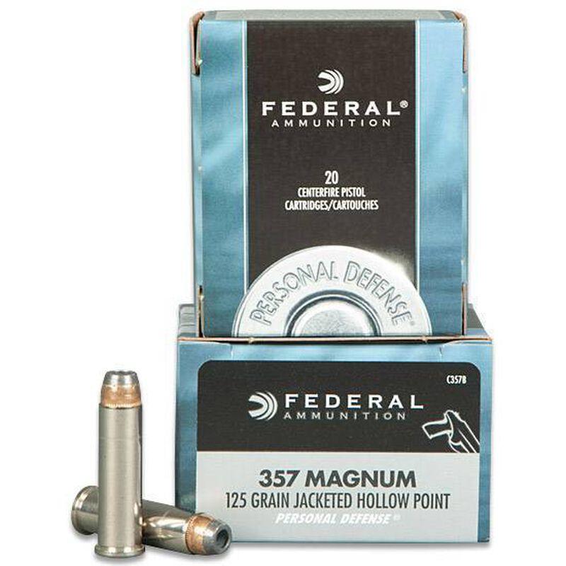 Federal  357 MAG 125 Grain JHP 20 Round Box 1440 fps