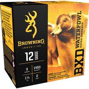 """Browning 12 Gauge Ammunition 25 Rounds 3"""" 1-1/4 oz. #2 Shot"""