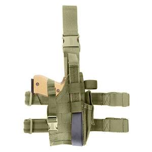 BLACKHAWK! Nylon Omega VI Elite GLOCK/SIG Right Hand Draw Tactical Drop Leg Holster OD Green 40QD02OD