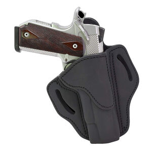 1791 Gunleather Open Top Multi-Fit OWB Belt Holster for Full Size 1911 Semi Auto Models Right Hand Draw Leather Black