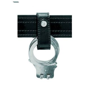 Safariland Model 690 Handcuff Strap One Brass Snap Basket Weave Black 690-4B
