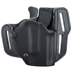 BLACKHAWK! Grip Break Holster Leather Right Hand GLOCK 17/19/22/23/31/32 Black 421903BK-R