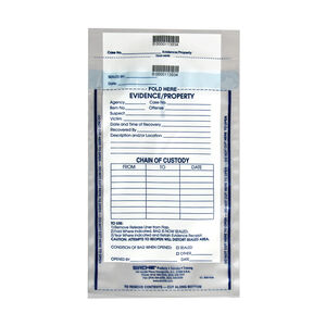 """Sirchie Integrity Evidence Bags 7.5"""" X 10.5"""" 3.2 Mil Thickness Tamperproof Seal Individually Numbered IEB7500"""